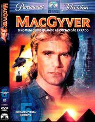 DVD MACGYVER - 5 TEMP - DUBLADO - 6 DVDs