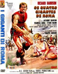 DVD OS QUATRO GIGANTES DE ROMA - RICHARD HARRISON