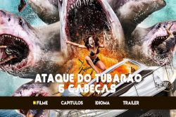 DVD ATAQUE DO TUBARAO DE 6 CABEÇAS