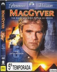 DVD MACGYVER - 5 TEMP - LEGENDADO - 5 DVDs