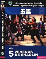 DVD OS 5 VENENOS DE SHAOLIN
