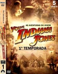DVD AS AVENTURAS DO JOVEM INDIANA JONES - 1 TEMP - 5 DVDs