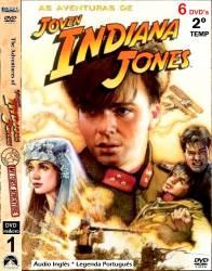 DVD AS AVENTURAS DO JOVEM INDIANA JONES - 2 TEMP - 6 DVDs