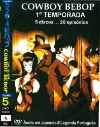 DVD COWBOY BEBOP - 1º TEMP - 5 DVDs