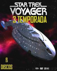 DVD JORNADA NAS ESTRELAS VOYAGER - 3 TEMP - 8 DVDs