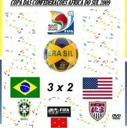DVD COPA DAS CONFEDERAÇÕES DE 2009 - BRASIL 3x2 U.S.A - FINAL