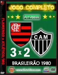 DVD FLAMENGO 3x2 ATLÉTICO/MG - CAMPEONATO BRASILEIRO 1980 - FINAL