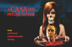 DVD A CASA QUE PINGAVA SANGUE - CHRISTOPHER LEE