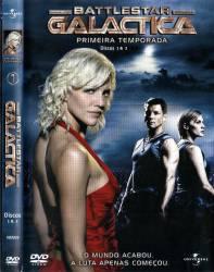 DVD GALACTICA - ASTRONAVE DE COMBATE - 1 TEMP - 5 DVDs