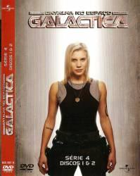 DVD GALACTICA - ASTRONAVE DE COMBATE - 4 TEMP - 4 DVDs
