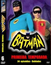 DVD BATMAN - ADAM WEST - 1 TEMP - 6 DVDs
