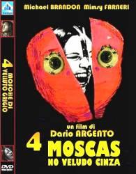 DVD 4 MOSCAS NO VELUDO CINZA