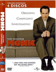 DVD MONK - 3 TEMP - 4 DVDs